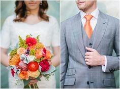 Gorgeous, vibrant take on a fall wedding bouquet. | Lora Grady Photography Seattle Wedding Photographer