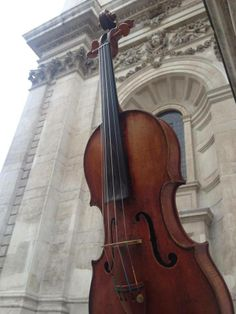 Amazing to think that when this violin was built, 300 years ago and 10 meters from this spot, this building was brand new too. A really lovely Daniel Parker that I have for sale.