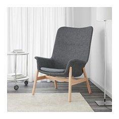 VEDBO Korkeaselk lepotuoli, Gunnared tummanharmaa - Gunnared tummanharmaa - IKEA 250 e