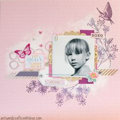 Scrapbooking layout for June 123 Get Scrappy Challenge: Let your light shine.