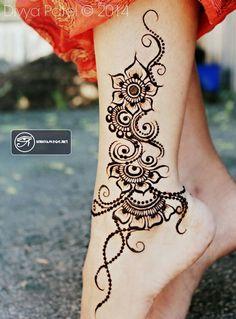 Nguồn gốc vẽ Henna - Những hình xăm Henna đẹp cho nữ