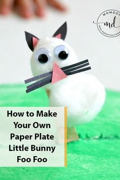 Use paper plates to create a Little Bunny Foo Foo Paper Plate Craft for Easter. Paper Plate Crafts For Kids, Paper Crafts, Little Bunny Foo Foo, Paper Plate Animals, Dinosaur Crafts, Ocean Crafts, Alphabet Crafts, Homemade Christmas Gifts, Preschool Crafts