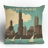 Anderson Design Group Chicago Throw Pillow -- Home Sweet Home Chicago