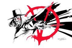 V for Vendetta Commission by SergioSandoval on DeviantArt