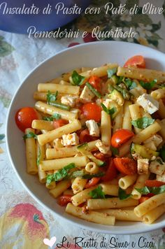 Insalata di Pasta con Paté di Olive Pomodorini e Quartirolo