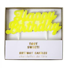 Meri Meri Toot Sweet Geburtstagskerze Happy Birthday - Bonuspunkte sammeln, Kauf auf Rechnung, DHL Blitzlieferung!