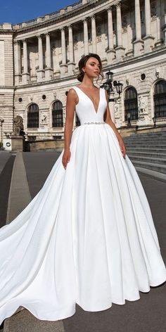 "Crystal Design 2018 Wedding Dresses - ""Royal Garden"" ❤ crystal design 2018 wedding dresses a line v neckline simple sleeveless style ivanna ❤ See more: http://www.weddingforward.com/crystal-design-2018-wedding-dresses/ #weddingforward #wedding #bride #bridalgown #weddingdresses2018"