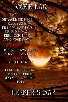 Positive Thoughts, Positive Quotes, Goeie Nag, Bible Pictures, Good Night Quotes, Sleep Tight, Prayer Quotes, Afrikaans, Positivity