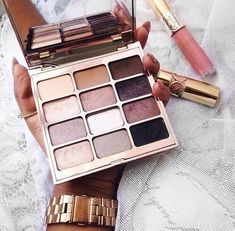 stila eyeshadow + saint laurent lipstick