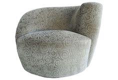 Vladimir Kagan Nautilus Swivel Chair on OneKingsLane.com
