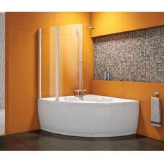 vasca angolare con doccia