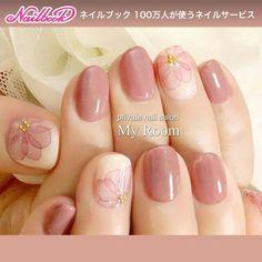 マイルーム My Room~private nail Pink Nails, Toe Nails, Uñas Fashion, Kawaii Nails, Toe Nail Designs, Bridal Nails, Fabulous Nails, Flower Nails, Simple Nails