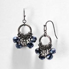 Simply+Vera+Vera+Wang+Bead+Hoop+Drop+Earrings