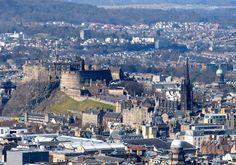 Edinburgh Castle shot from the summit