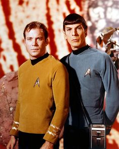 Kirk and Spock.