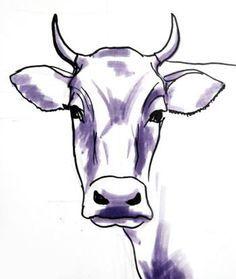 Bull head drawing