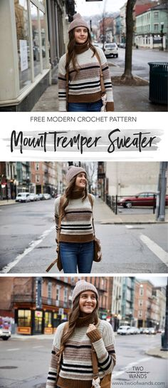 Mount Tremper Sweater pattern by Two of Wands - Free #Crochet Pattern