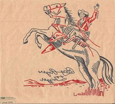 1950s Roy Rodgers with Trigger by Embroiderist, via Flickr