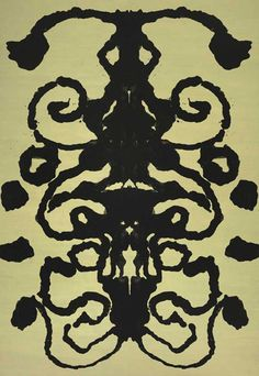 Andy Warhol - Rorschach, 1984; Synthetic polymer paint on canvas. © 2013 The Andy Warhol Museum, Pittsburgh.