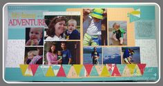 Free to Be Me layout ~ catscrapbooking.com