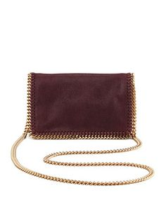 Falabella Chain Crossbody Bag, Plum by Stella McCartney at Bergdorf Goodman.
