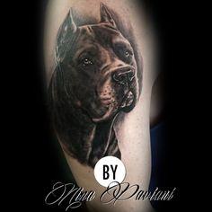 Cachorro da raça Cane Corso no realismo preto e branco. www.ninapaviani.com.br/contato