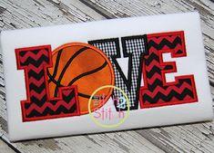 Basketball LOVE 2 Applique Design For Machine by Applique Patterns, Applique Designs, Embroidery Applique, Machine Embroidery Designs, Embroidery Ideas, Basketball Decorations, Machine Applique, Vintage Crafts, Love Design