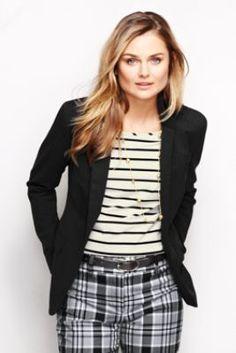 Women's Long Sleeve Wear to Work Blazer from Lands' End $129