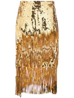 ROCHAS Sequin Tassel Skirt Gold $4250 FREE S&H (Compare Elsewhere at $4500 + S & H). Weekday Order Pick Up also Available - MIRABELLE West Hollywood - ShopMirabelle.Com