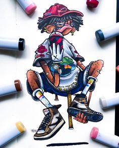 Cute Doodle Art, Doodle Art Designs, Doodle Art Drawing, Cute Doodles, Art Drawings, Doodle Characters, Graffiti Characters, Graffiti Doodles, Graffiti Art