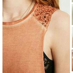 """🍑Crop top! Peachy rust colored sleeveless top. Comfy and cute. Wear in warm weather alone or layer over it in cooler temps. Made to be a bit oversized.Knit,60% cotton 40% modal.   Small measures 19"""" full length 28""""chest 40 """" waist   No trades na Tops Tank Tops"""