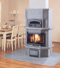 better picture of soapstone masonry heater by Tulikivi