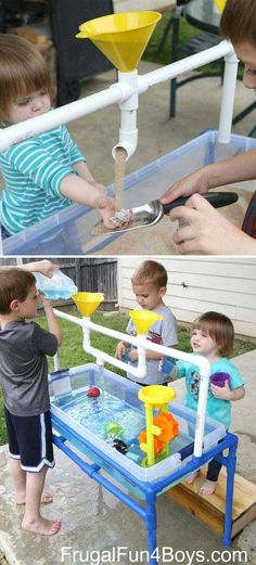 Making some interesting projects for kiddos by yourself is a great idea to prove you are an omnipotent and successful parent. Kids are all fond of spending time outdoor, so you can do something makes their outdoor time more fun. Easy PVC pipe projects are Summer Fun For Kids, Diy For Kids, Cool Kids, Crafts For Kids, Diy Crafts, Family Crafts, Summer Crafts, Kids Fun, Pvc Pipe Projects