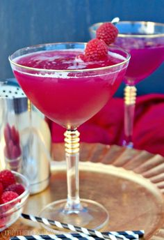 This tasty Berry Kissable Cocktail is made with cake vodka, pineapple juice and a fabulous homemade ruby red raspberry syrup!