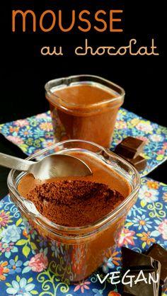 Mousse aux chocolat sans oeufs (vegan, rapide, 2 ingrédients)
