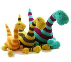 Danger Crafts Basil the Brontosaurus Dinosaur PDF Knitting Pattern