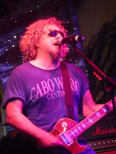 Sammy Hagar at his Cabo Wabo Catina during his annual birthday bash Red Rocker, Sammy Hagar, Face Down, Van Halen, Rock Stars, Birthday Bash, Cabo, Guitars, Mexico