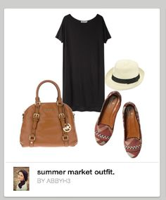#brown #printed #loafers #bags #fedora #black #JerseyDress #hat #flats #outfit #clothing #comfy Flats Outfit, Brown Flats, Back To School Outfits, Michael Kors Bag, Ballet Flats, Work Wear, Sydney, Womens Fashion, Fashion Trends