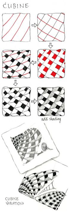 Cubine. Official Zentangle w. examples.