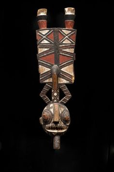 Africa   Mask from the Bwa Gurunsi people of Burkina Faso   Wood with pigment