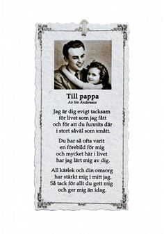 Till Pappa - Diktkort | HemFinaHem - DeReina Wise Quotes, Poetry Quotes, Great Quotes, Swedish Quotes, Swedish Language, Proverbs Quotes, Text Me, True Words, Family Quotes