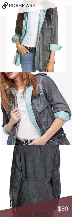 Free People Double Cloth Military Jacket NWT new with tag Free People FP double cloth Military Jacket. Size Medium. Check out my closet for bundles! Free People Jackets & Coats
