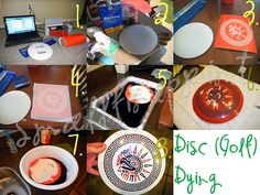 Many disc golf discs can be dyed throw a relatively simple process. There is some pretty incredible artwork/dying done out there, so we encourage you to research it. Maybe you'll just do some disc dying of your own!