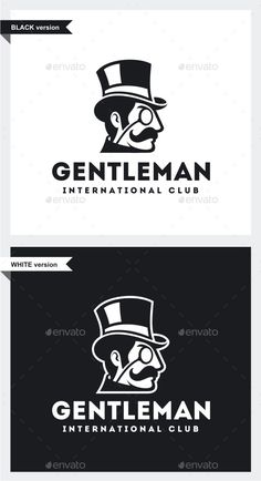 Gentleman Logo - Humans Logo Templates Download here : http://graphicriver.net/item/gentleman-logo/15761838?s_rank=149&ref=Al-fatih