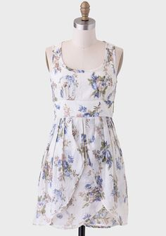 Pretty Floral Patterned Dress