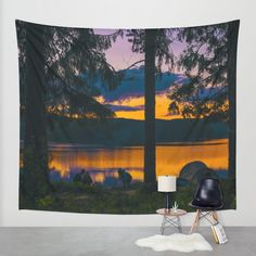 Down By The River Wall Tapestry by Gallery One | Society6