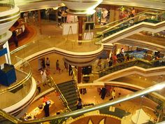 looks like a shopping mall but its a ship