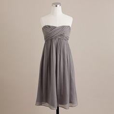 Taryn dress in silk chiffon-jcrew