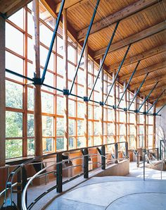 Gorgeous space. Love the glulam in the natural light at the Robinson Nature Center. Once again, this is a great example of how glulam can be used in LEED Platinum projects.