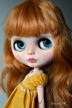 Red almond doll